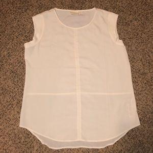 Chico's White Short Sleeved Blouse